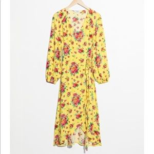 & Other Stories Wrap Floral dress (NWT)